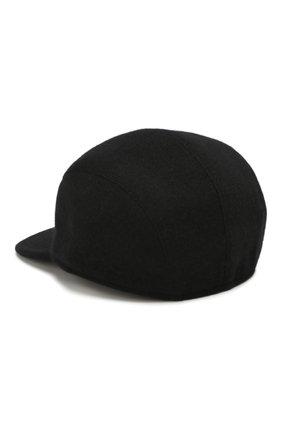 Мужской кашемировая бейсболка SVEVO черного цвета, арт. 01041SA19/MP01/2 | Фото 2