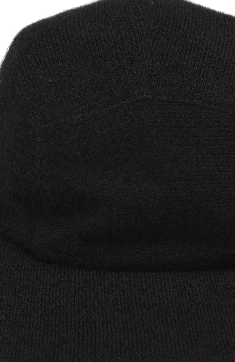 Мужской кашемировая бейсболка SVEVO черного цвета, арт. 01041SA19/MP01/2 | Фото 3