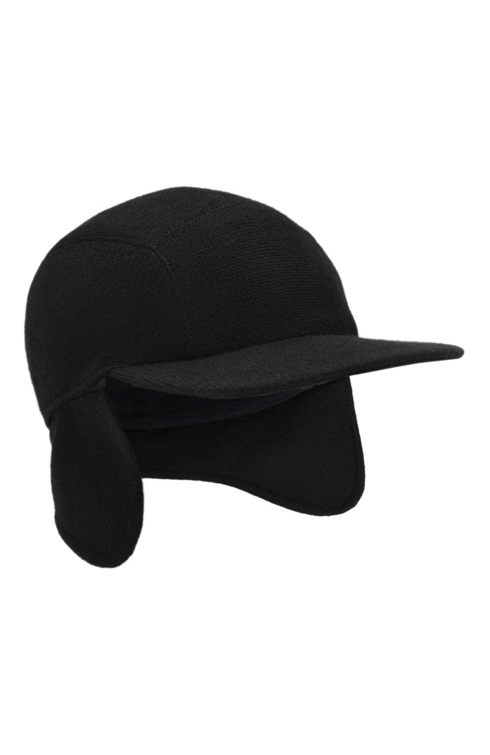 Мужской кашемировая бейсболка SVEVO черного цвета, арт. 01041SA19/MP01/2 | Фото 4