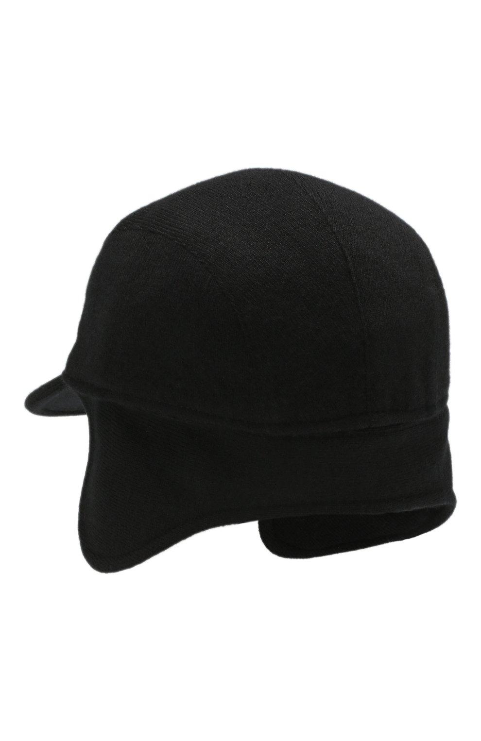 Мужской кашемировая бейсболка SVEVO черного цвета, арт. 01041SA19/MP01/2 | Фото 5
