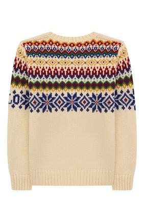 Детский пуловер из хлопка и шерсти POLO RALPH LAUREN бежевого цвета, арт. 323760328 | Фото 2