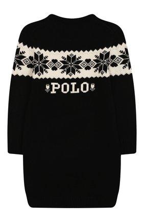 Детское платье POLO RALPH LAUREN черно-белого цвета, арт. 313763190 | Фото 2