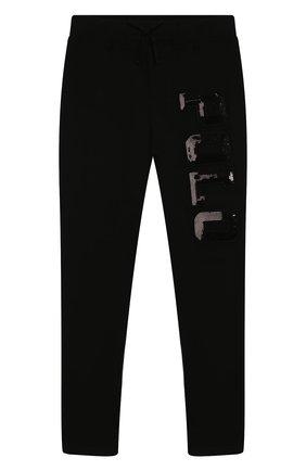 Детского хлопковые брюки POLO RALPH LAUREN черного цвета, арт. 313762314 | Фото 1