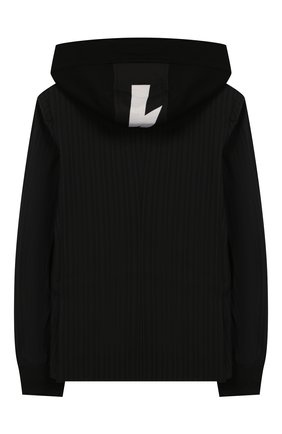 Детский шерстяной пиджак с капюшоном NEIL BARRETT KIDS черного цвета, арт. 020591 | Фото 2