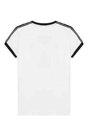 Детская хлопковая футболка EA 7 белого цвета, арт. 6GFT59/FJ29Z | Фото 2