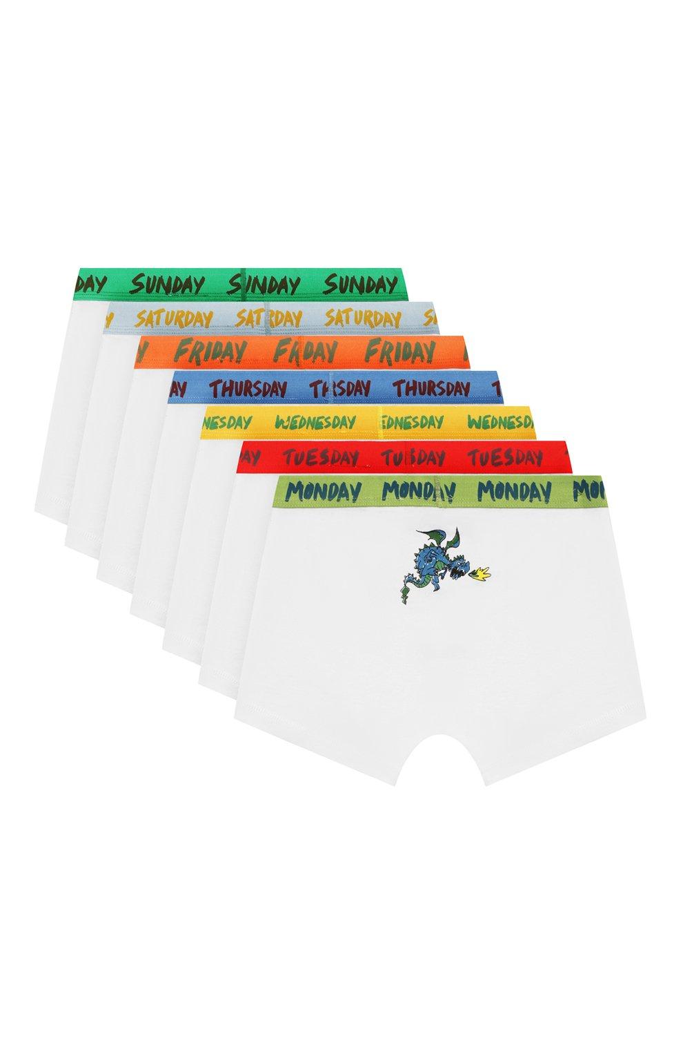 Детские комплект из 7-ми трусов STELLA MCCARTNEY разноцветного цвета, арт. 566471/SNJE9 | Фото 2