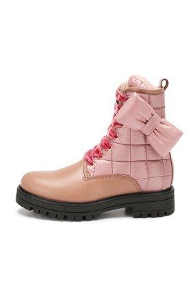 Детские кожаные ботинки с меховой отделкой SIMONETTA розового цвета, арт. SITR0008/S0FTY/FUR/35-40 | Фото 2