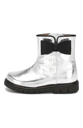 Детские кожаные ботинки SIMONETTA серебряного цвета, арт. SI4TR004/MIRR0R/23-27 | Фото 2