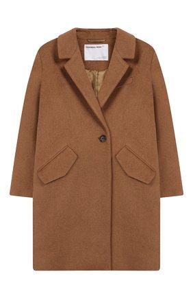 Детское пальто из шерсти и льна DESIGNERS, REMIX GIRLS бежевого цвета, арт. 15360 | Фото 1