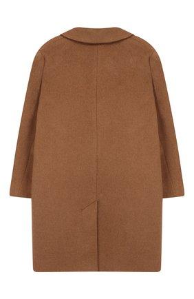 Детское пальто из шерсти и льна DESIGNERS, REMIX GIRLS бежевого цвета, арт. 15360 | Фото 2