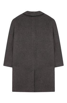 Детское пальто из шерсти и льна DESIGNERS, REMIX GIRLS серого цвета, арт. 15360 | Фото 2