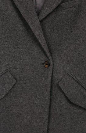 Детское пальто из шерсти и льна DESIGNERS, REMIX GIRLS серого цвета, арт. 15360 | Фото 3