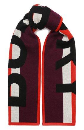Детский шерстяной шарф BURBERRY бордового цвета, арт. 8017795 | Фото 1
