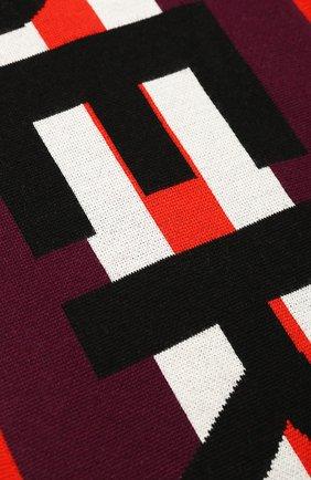 Детский шерстяной шарф BURBERRY бордового цвета, арт. 8017795 | Фото 2