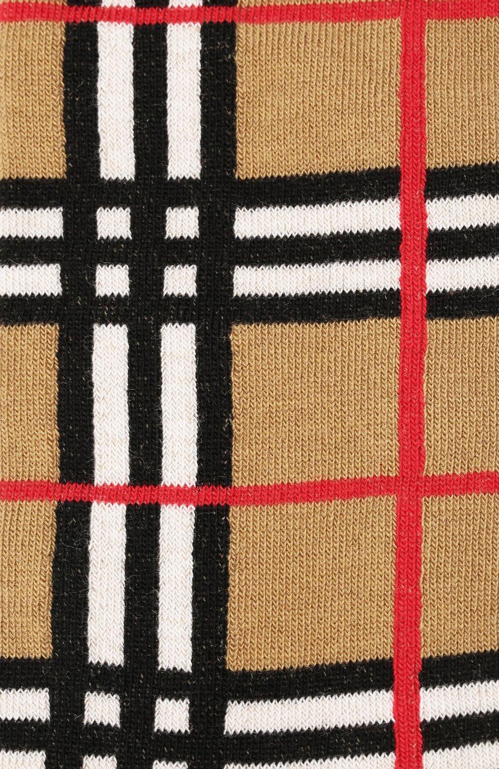 Детские хлопковые носки BURBERRY светло-серого цвета, арт. 8018178   Фото 2