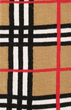 Детские хлопковые носки BURBERRY светло-серого цвета, арт. 8018178 | Фото 2