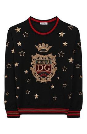 Детский шерстяной пуловер DOLCE & GABBANA разноцветного цвета, арт. L4KW52/JAVS0/8-14   Фото 1