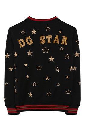 Детский шерстяной пуловер DOLCE & GABBANA разноцветного цвета, арт. L4KW52/JAVS0/8-14   Фото 2