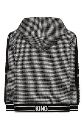 Детский толстовка с капюшоном DOLCE & GABBANA черно-белого цвета, арт. L4JW7D/G7TYS/8-14 | Фото 2