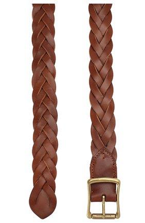 Мужской кожаный ремень RALPH LAUREN коричневого цвета, арт. 404761810 | Фото 2