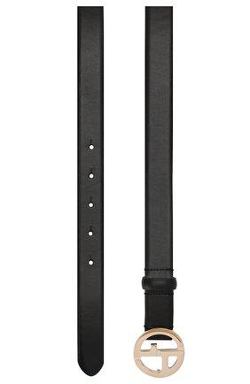 Женский кожаный ремень GIORGIO ARMANI черного цвета, арт. Y1I169/YSB3A | Фото 2 (Статус проверки: Проверена категория)