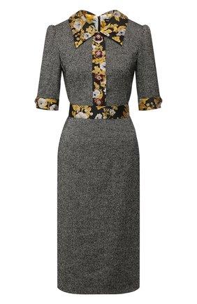 Женское шерстяное платье DOLCE & GABBANA серого цвета, арт. F6F40Z/FMRAX | Фото 1
