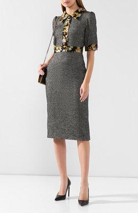 Женское шерстяное платье DOLCE & GABBANA серого цвета, арт. F6F40Z/FMRAX | Фото 2