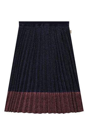 Детская плиссированная юбка MARC JACOBS (THE) синего цвета, арт. W13097 | Фото 1