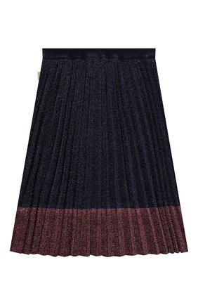 Детская плиссированная юбка MARC JACOBS (THE) синего цвета, арт. W13097 | Фото 2