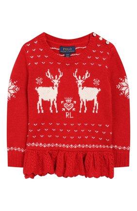 Детский пуловер POLO RALPH LAUREN красного цвета, арт. 311763068 | Фото 1