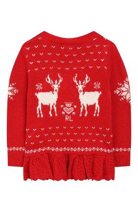 Детский пуловер POLO RALPH LAUREN красного цвета, арт. 311763068 | Фото 2