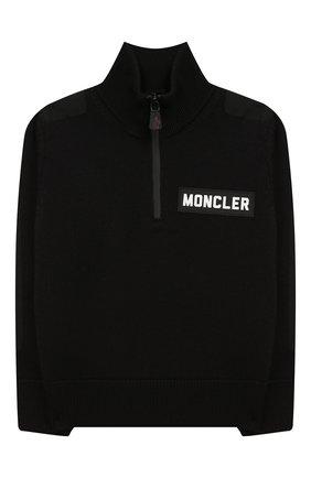 Детский шерстяной свитер MONCLER ENFANT черного цвета, арт. E2-954-92000-05-A9155/4-6A | Фото 1