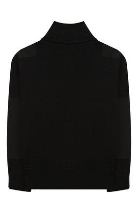 Детский шерстяной свитер MONCLER ENFANT черного цвета, арт. E2-954-92000-05-A9155/4-6A | Фото 2