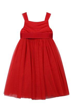 Детское платье DOLCE & GABBANA красного цвета, арт. L52DA0/HLMMR/8-14 | Фото 1