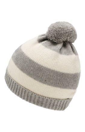 Комплект из шапки с шарфом и варежек | Фото №3