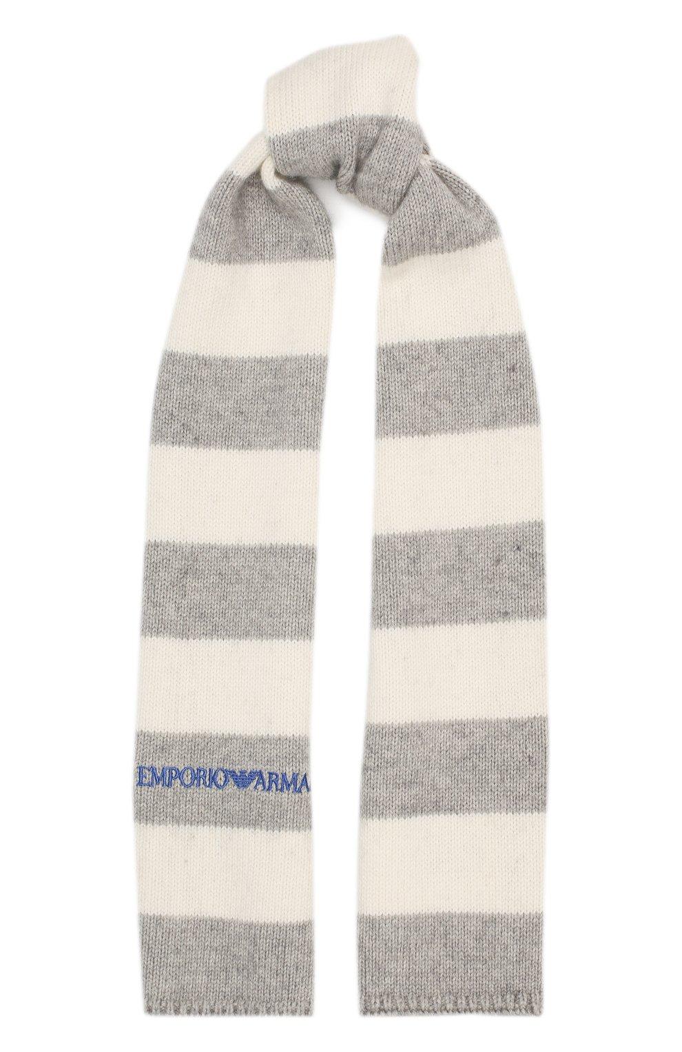 Комплект из шапки с шарфом и варежек | Фото №4