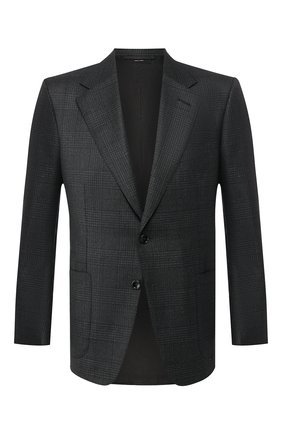 Мужской шерстяной пиджак TOM FORD темно-серого цвета, арт. 644R32/11A740 | Фото 1