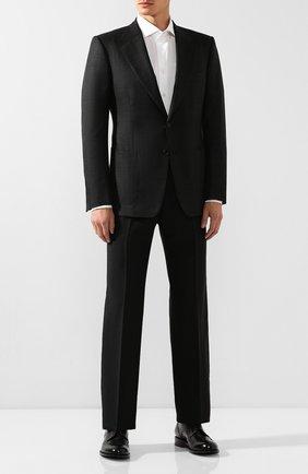 Мужской шерстяной пиджак TOM FORD темно-серого цвета, арт. 644R32/11A740 | Фото 2