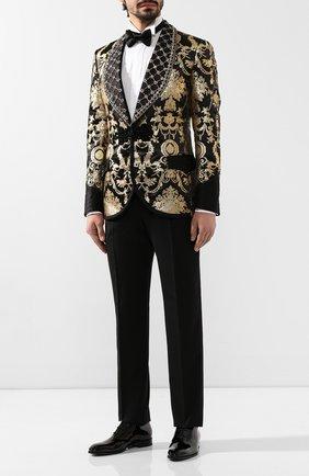 Мужской пиджак DOLCE & GABBANA золотого цвета, арт. G2NG4Z/HJMG2 | Фото 2