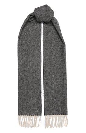 Мужской шерстяной шарф ETON темно-серого цвета, арт. A000 30132   Фото 1 (Материал: Шерсть; Статус проверки: Проверено, Проверена категория; Кросс-КТ: шерсть)