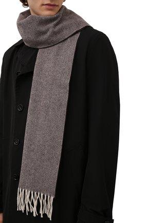 Мужской шерстяной шарф ETON темно-коричневого цвета, арт. A000 30132 | Фото 2