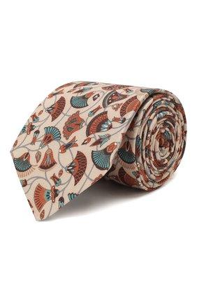 Мужской шелковый галстук ETON бежевого цвета, арт. A000 31859 | Фото 1
