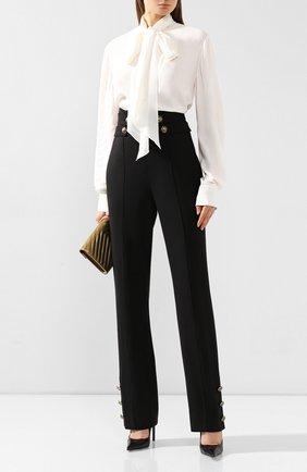 Женские шерстяные брюки OSCAR DE LA RENTA черного цвета, арт. 19FN314BIS | Фото 2