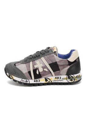 Детские кроссовки из кожи и текстиля PREMIATA WILL BE серого цвета, арт. LUCY/1187/CHILD | Фото 2