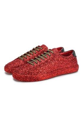 Женские кеды andy SAINT LAURENT красного цвета, арт. 590027/1G020 | Фото 1