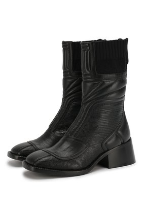 Женские кожаные ботинки bell CHLOÉ черного цвета, арт. CHC19W234G6 | Фото 1