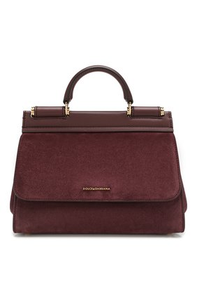 Женская сумка sicily soft small DOLCE & GABBANA бордового цвета, арт. BB6755/AA625 | Фото 1