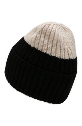 Женский шерстяная шапка WOOLRICH черно-белого цвета, арт. WWACC1459/UF0096 | Фото 2