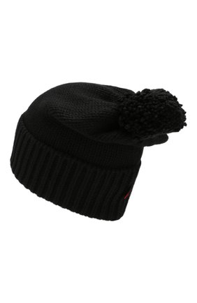 Женский шерстяная шапка WOOLRICH черного цвета, арт. WWACC1460/UF0096 | Фото 2
