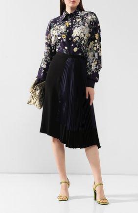 Женская юбка из вискозы MARNI темно-синего цвета, арт. G0MA0129FQ/TV710 | Фото 2
